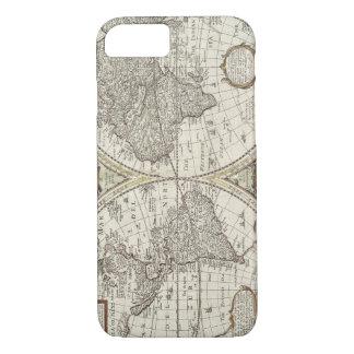 古く旧式なヴィンテージの世界地図 iPhone 8/7ケース