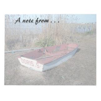 古く素朴な漕艇 ノートパッド