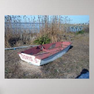 古く素朴な漕艇 ポスター