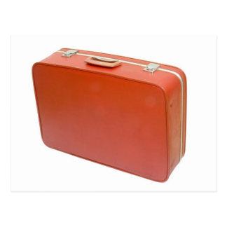 古く赤いスーツケース ポストカード