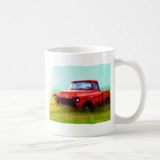 古く赤い積み込みの納屋ヤードの記憶 コーヒーマグカップ