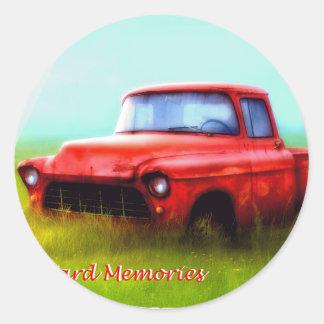 古く赤い積み込みの納屋ヤードの記憶 ラウンドシール