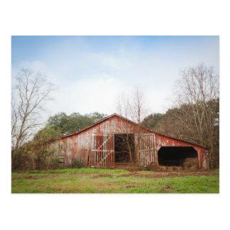 古く赤い納屋 ポストカード