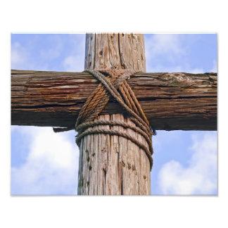 古く険しい十字の終わりの写真のプリント フォトプリント
