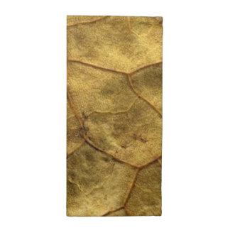 古く黄色い葉のナプキンセット ナプキンクロス