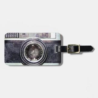 古く黒いカメラ ラゲッジタグ