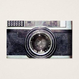 古く黒いカメラ 名刺