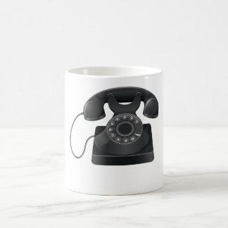 古く黒い電話マグ コーヒーマグカップ