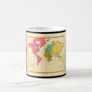 古さの疲れた世界地図8_Maps コーヒーマグカップ