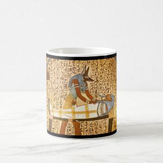 古さのMummification_Artを完了するAnubis コーヒーマグカップ