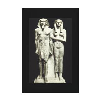 古さのMycerinusおよびWife_Art王 キャンバスプリント