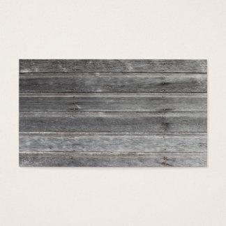 古な(風化させた)木の壁のテレホンカード 名刺