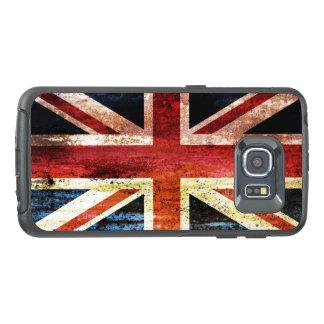 古めかしい英国国旗 オッターボックスSamsung GALAXY S6 EDGEケース