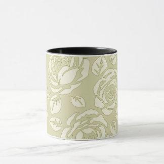 古レトロ花柄(c)ユニセックス マグカップ