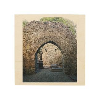 古代アイルランドの墓地 ウッドウォールアート
