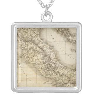 古代イタリア シルバープレートネックレス