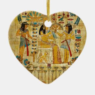 古代エジプトのタペストリースクロールHeirogliphics セラミックオーナメント