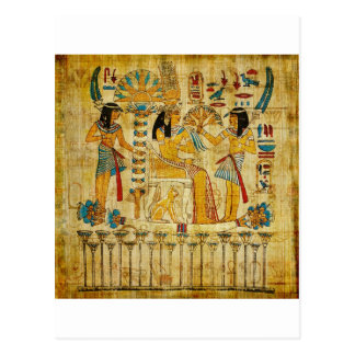 古代エジプトのタペストリースクロールHeirogliphics ポストカード