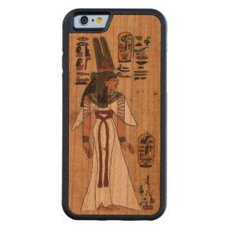 古代エジプトのパピルスのPharaonic Hieroglyphic CarvedチェリーiPhone 6バンパーケース