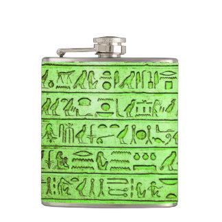 古代エジプトのヒエログリフの緑 フラスク