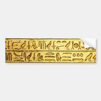 古代エジプトのヒエログリフの黄色 バンパーステッカー