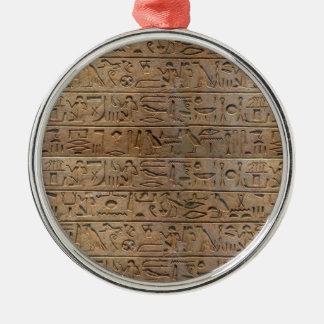 古代エジプトのヒエログリフデザイナーギフト メタルオーナメント