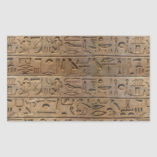 古代エジプトのヒエログリフデザイナーギフト 長方形シール
