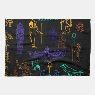 古代エジプトのヒエログリフ及び記号 キッチンタオル