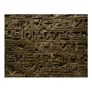 古代エジプトのヒエログリフ ポストカード