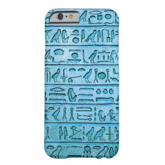 古代エジプトのヒエログリフ-青 BARELY THERE iPhone 6 ケース