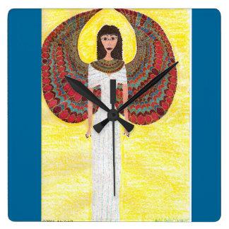 古代エジプトの天使 スクエア壁時計