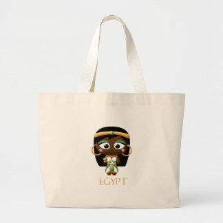 古代エジプトの女の子 ラージトートバッグ