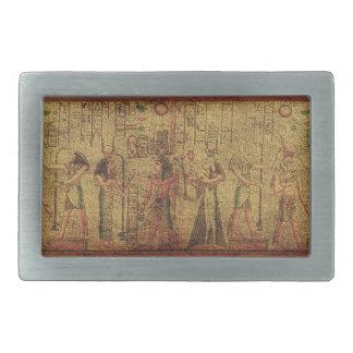 古代エジプトの寺院の壁の芸術 長方形ベルトバックル