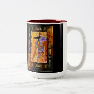 古代エジプトの神のAnubisのギフトの範囲 ツートーンマグカップ