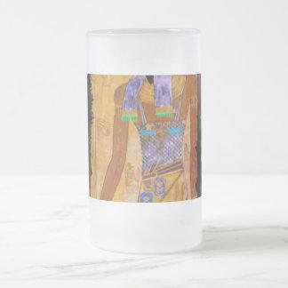 古代エジプトの神のAnubisのギフトの範囲 フロストグラスビールジョッキ