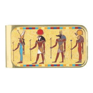 古代エジプトの神3のマネークリップ 金色 マネークリップ