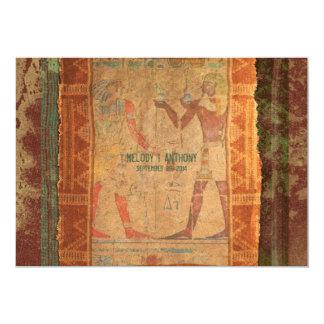 古代エジプトの象形文字の結婚式招待状 カード