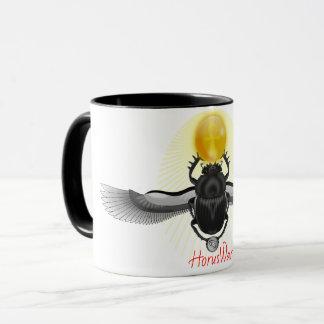 古代エジプト人によって飛ぶオオタマオシコガネのカブトムシのコーヒー・マグ マグカップ