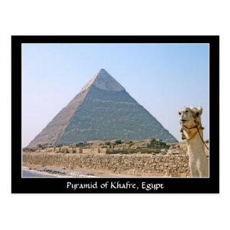 古代エジプト: Khafre、エジプトのピラミッド ポストカード