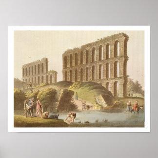古代カーセッジ、pの壮大な水路の台なし ポスター