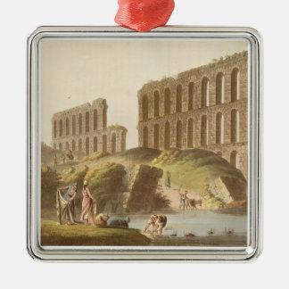 古代カーセッジ、pの壮大な水路の台なし メタルオーナメント