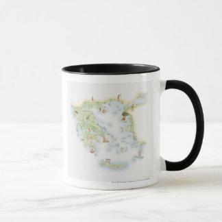 古代ギリシアの図解入りの、写真付きのな地図 マグカップ
