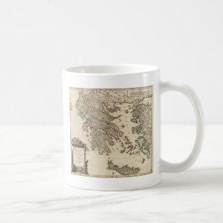 古代ギリシアの1752地図 コーヒーマグカップ