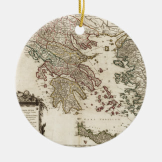 古代ギリシアの1752地図 セラミックオーナメント