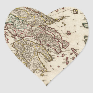 古代ギリシアの1752地図 ハートシール