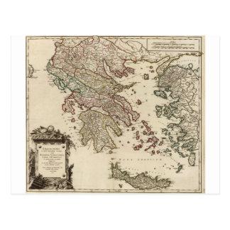 古代ギリシアの1752地図 ポストカード