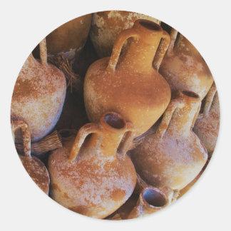 古代ギリシャ人のアンフォラ ラウンドシール