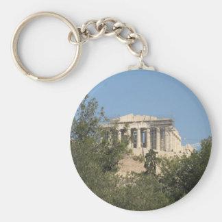 古代ギリシャ人のパルテノンの台なしの写真 キーホルダー
