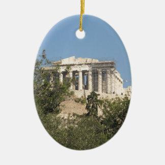 古代ギリシャ人のパルテノンの台なしの写真 セラミックオーナメント