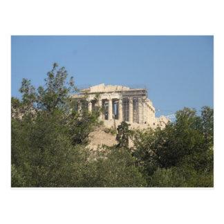 古代ギリシャ人のパルテノンの台なしの写真 ポストカード